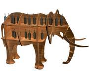 Hylla djur elefant 3d model