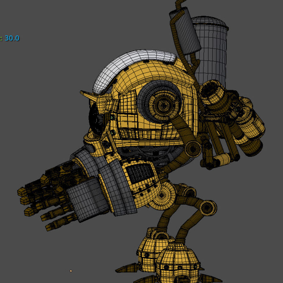 Droid royalty-free 3d model - Preview no. 6