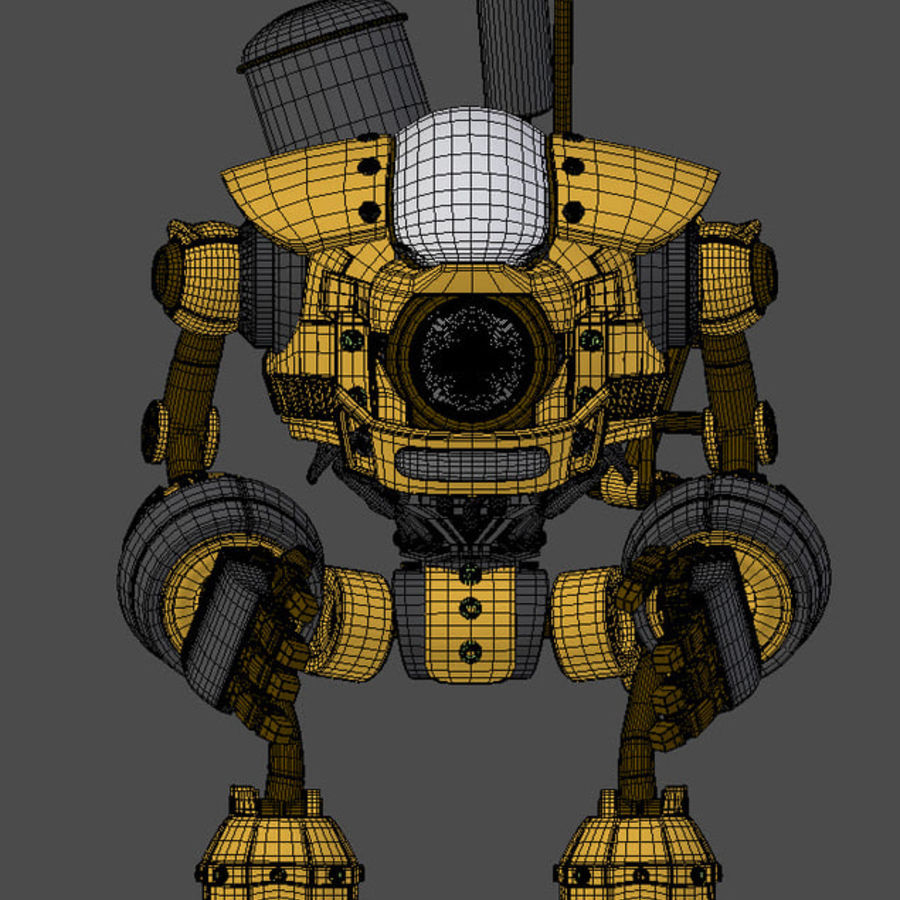 Droid royalty-free 3d model - Preview no. 9