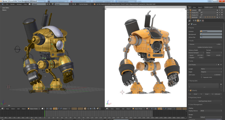 Droid royalty-free 3d model - Preview no. 8