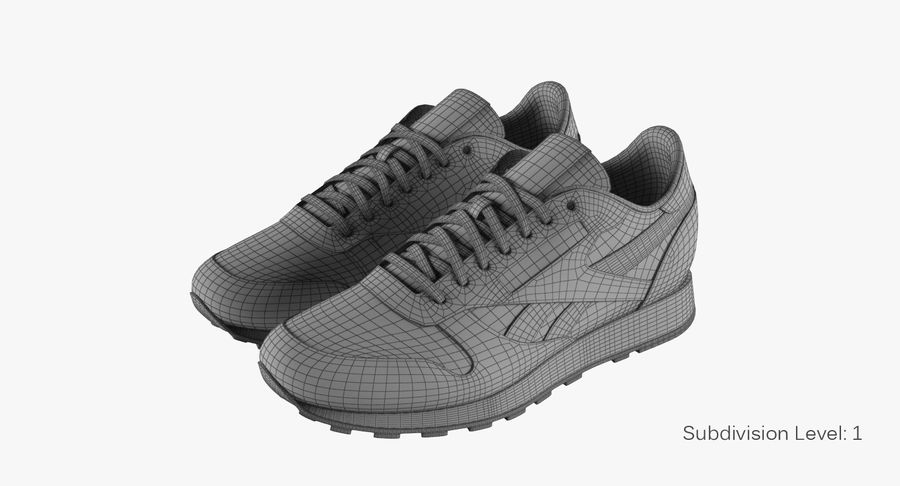 Reebok Classic Leather Shoes 2 royalty-free 3d model - Preview no. 10