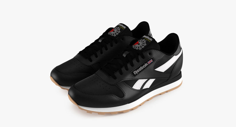 Reebok Classic Leather Shoes 2 royalty-free 3d model - Preview no. 2