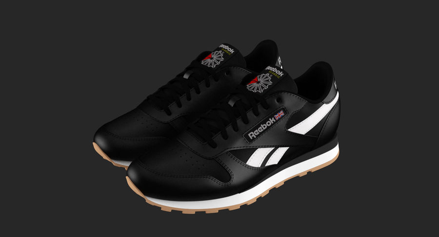 Reebok Classic Leather Shoes 2 royalty-free 3d model - Preview no. 3