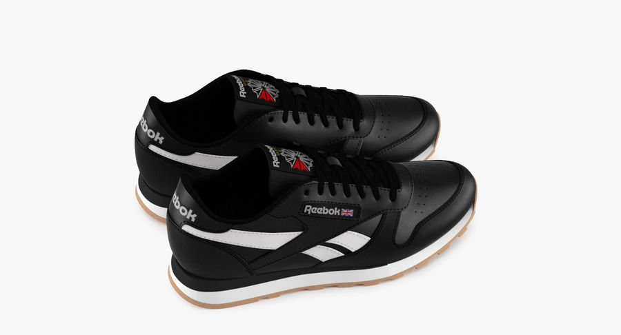 Reebok Classic Leather Shoes 2 royalty-free 3d model - Preview no. 7