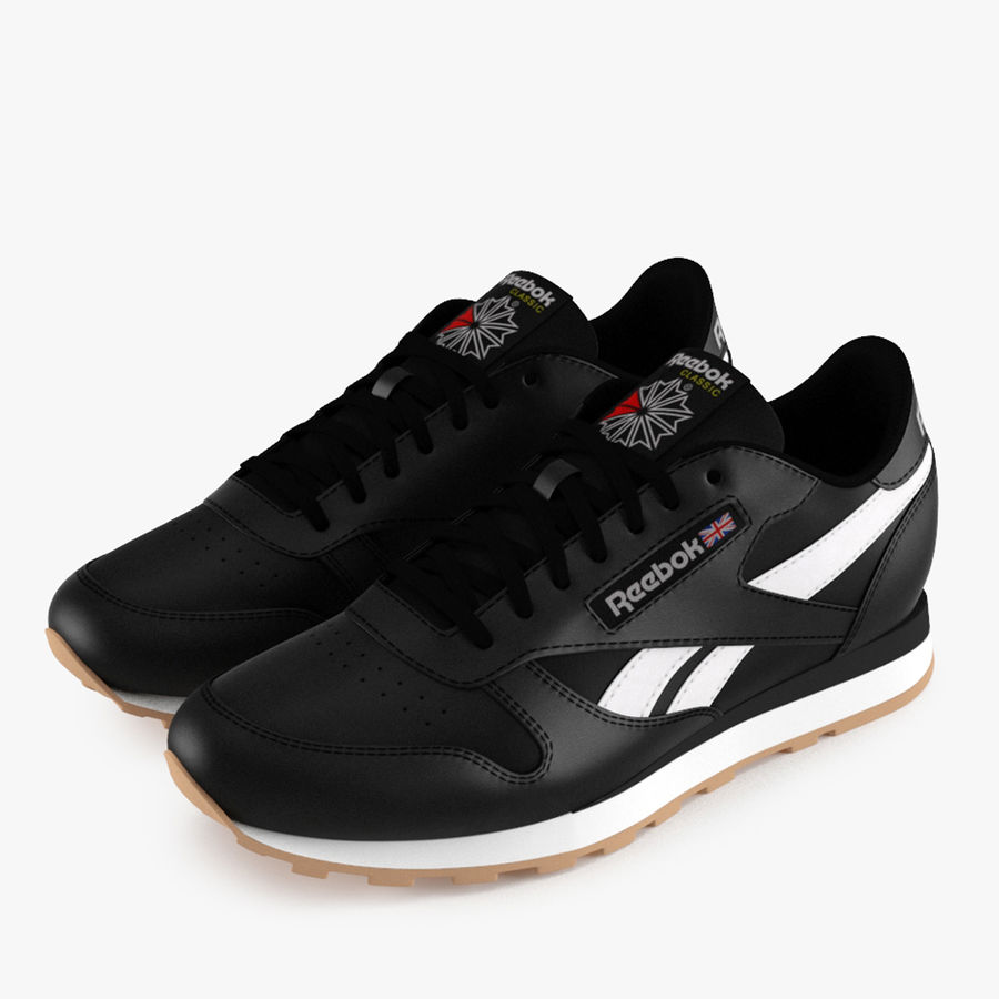 Reebok Classic Leather Shoes 2 royalty-free 3d model - Preview no. 1