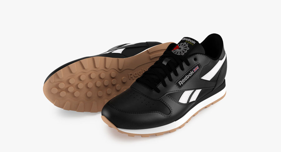 Reebok Classic Leather Shoes 2 royalty-free 3d model - Preview no. 4
