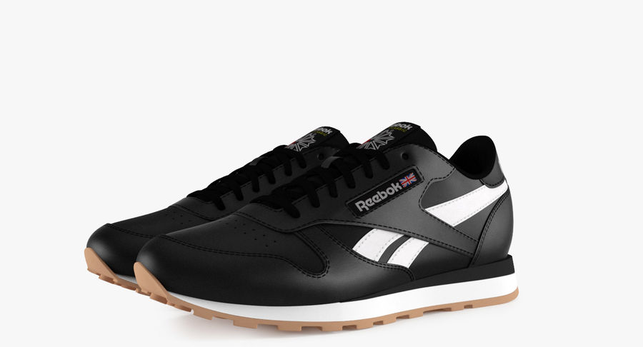 Reebok Classic Leather Shoes 2 royalty-free 3d model - Preview no. 5