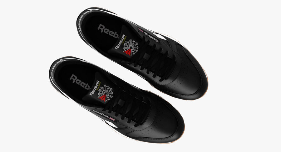 Reebok Classic Leather Shoes 2 royalty-free 3d model - Preview no. 8