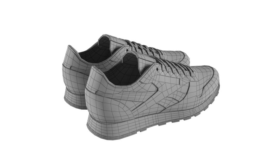 Reebok Classic Leather Shoes 2 royalty-free 3d model - Preview no. 12