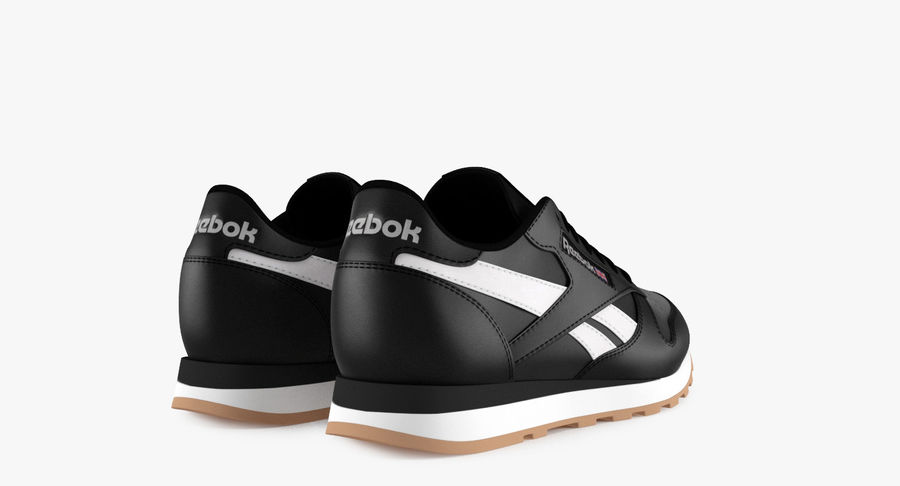Reebok Classic Leather Shoes 2 royalty-free 3d model - Preview no. 6