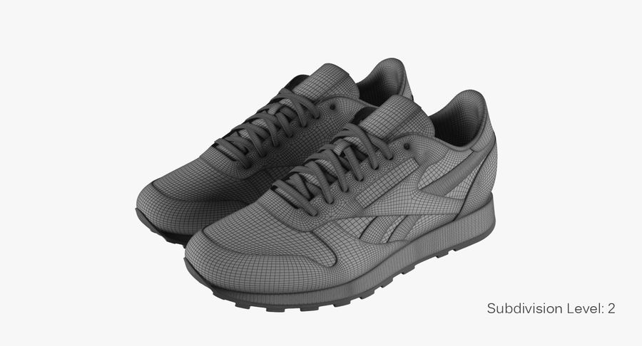 Reebok Classic Leather Shoes 2 royalty-free 3d model - Preview no. 11
