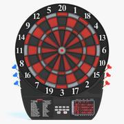 Tablero de dardos electronico modelo 3d