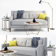 кросби диван 3d model