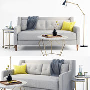 crosby sofa set 3d model