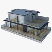 Modern House 17 (Interior + Exterior) 3d model