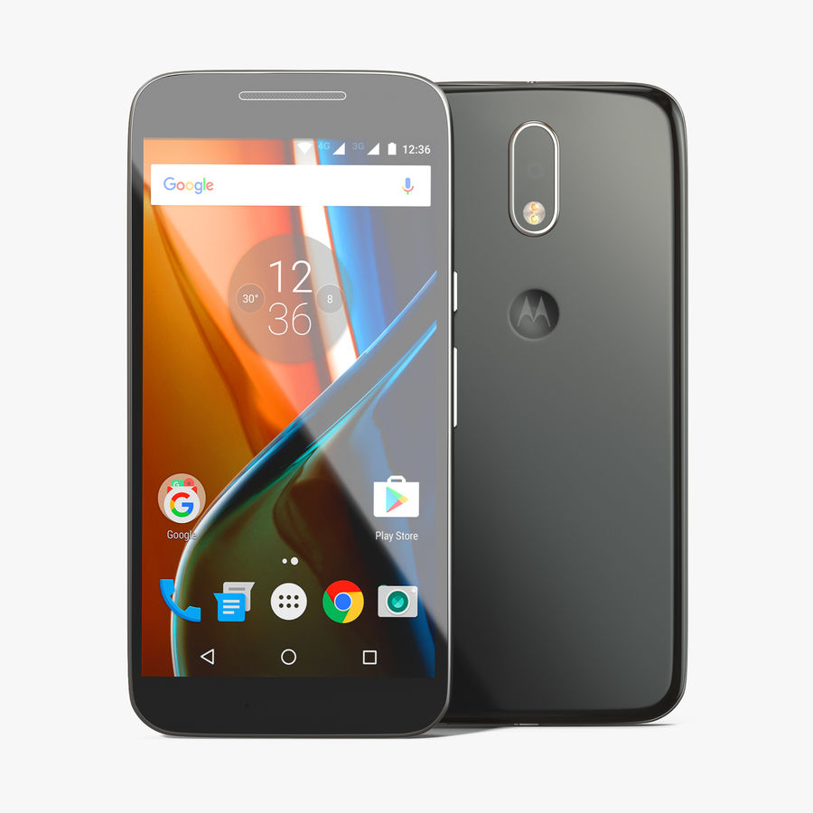 Motorola Moto G4 Black royalty-free 3d model - Preview no. 1