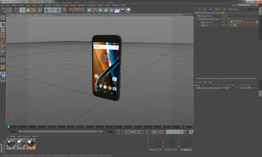Motorola Moto G4 Black royalty-free 3d model - Preview no. 13