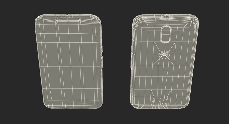 Motorola Moto G4 Black royalty-free 3d model - Preview no. 20