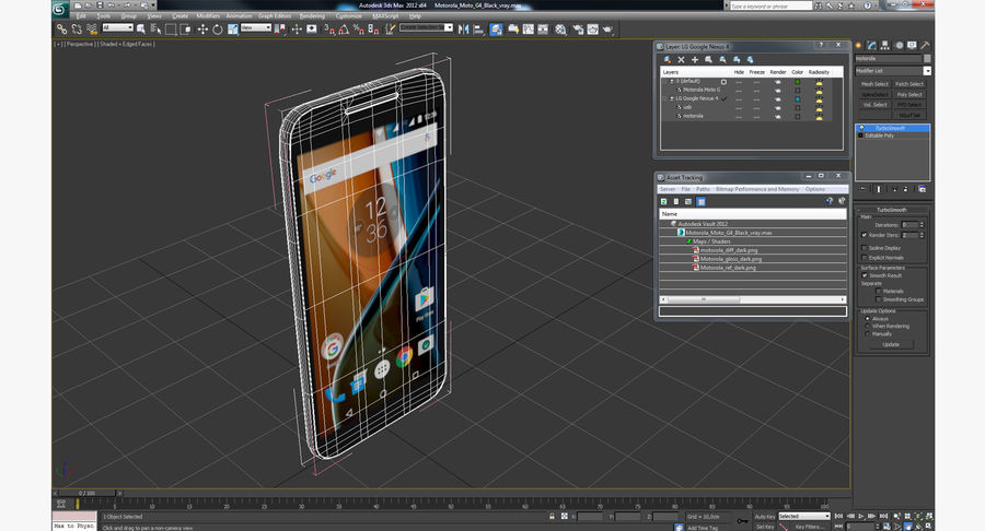 Motorola Moto G4 Black royalty-free 3d model - Preview no. 16