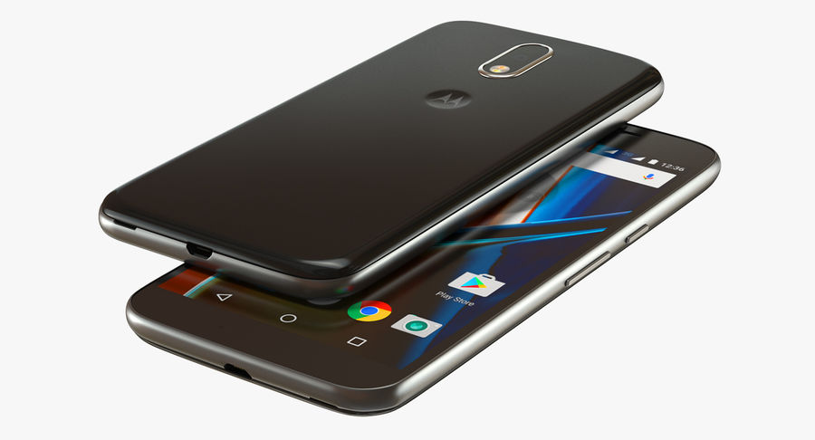 Motorola Moto G4 Black royalty-free 3d model - Preview no. 7