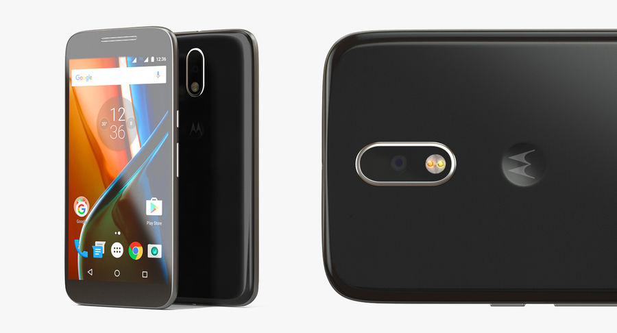 Motorola Moto G4 Black royalty-free 3d model - Preview no. 9