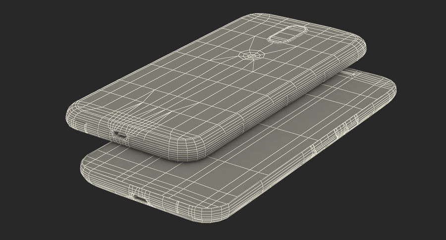 Motorola Moto G4 Black royalty-free 3d model - Preview no. 19
