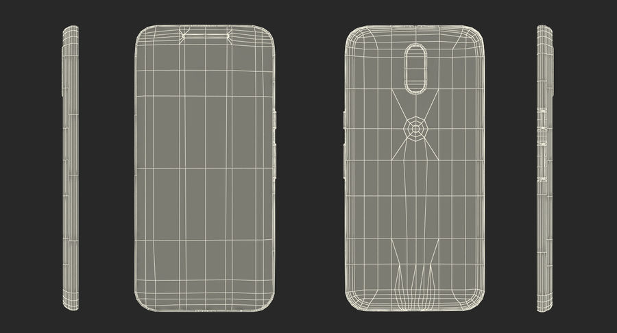 Motorola Moto G4 Black royalty-free 3d model - Preview no. 18