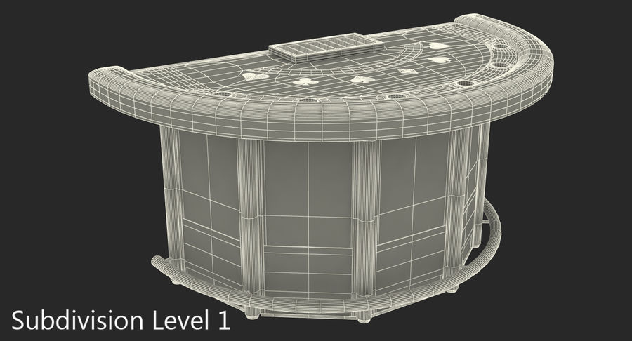 Blackjack Table royalty-free 3d model - Preview no. 10