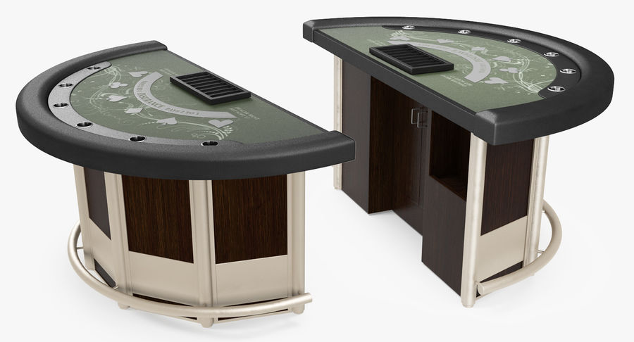 Blackjack Table royalty-free 3d model - Preview no. 7