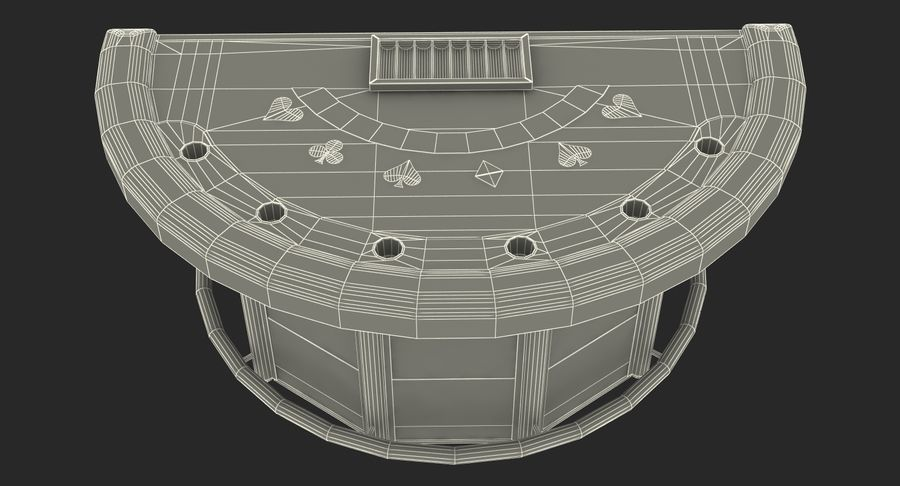 Blackjack Table royalty-free 3d model - Preview no. 16