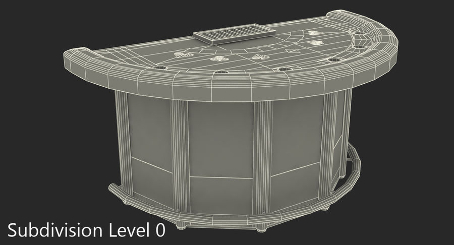 Blackjack Table royalty-free 3d model - Preview no. 9