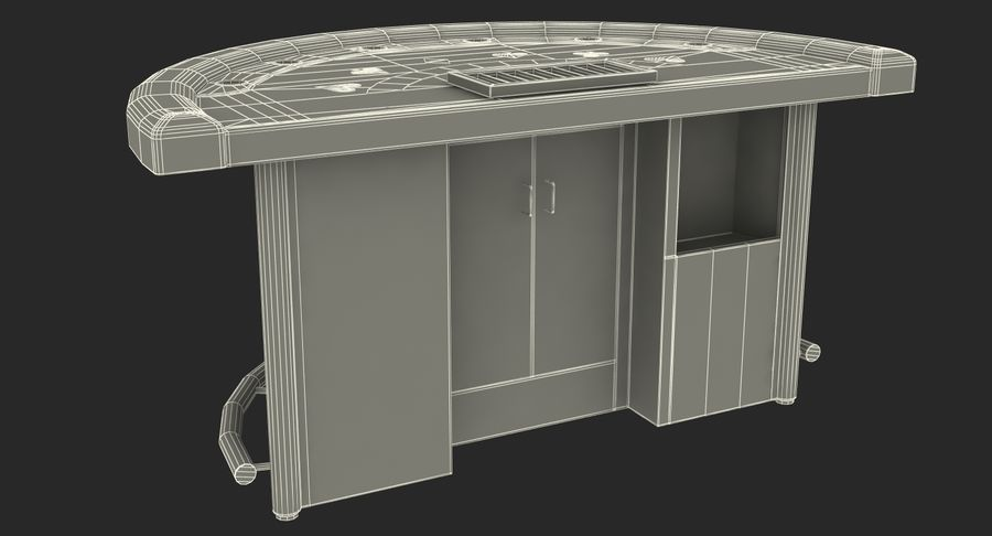 Blackjack Table royalty-free 3d model - Preview no. 17