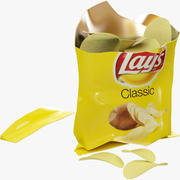 Lays Chips Package 3d model