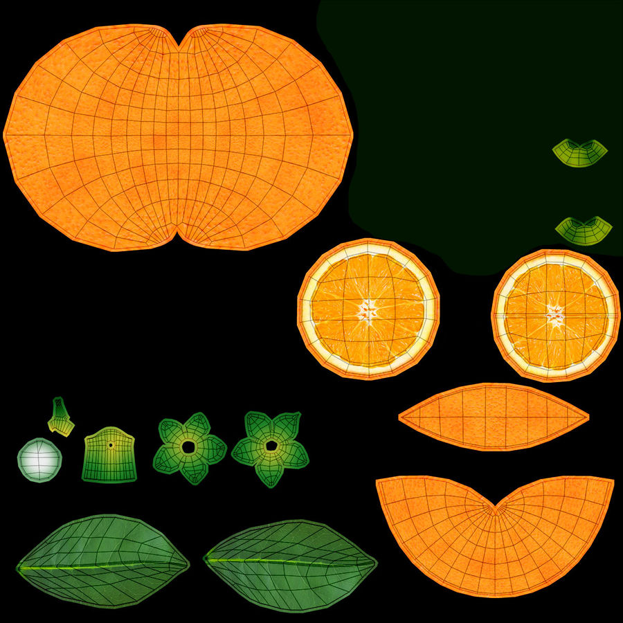 Orange Fruit royalty-free 3d model - Preview no. 18
