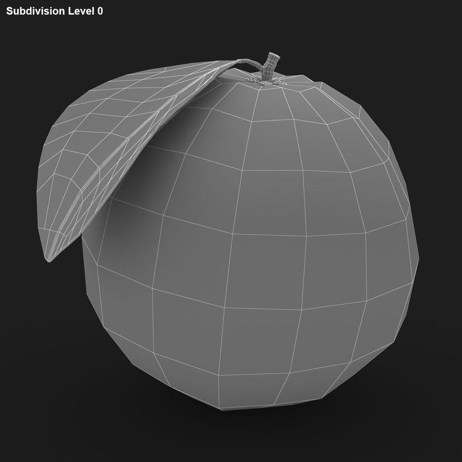 Orange Fruit royalty-free 3d model - Preview no. 11