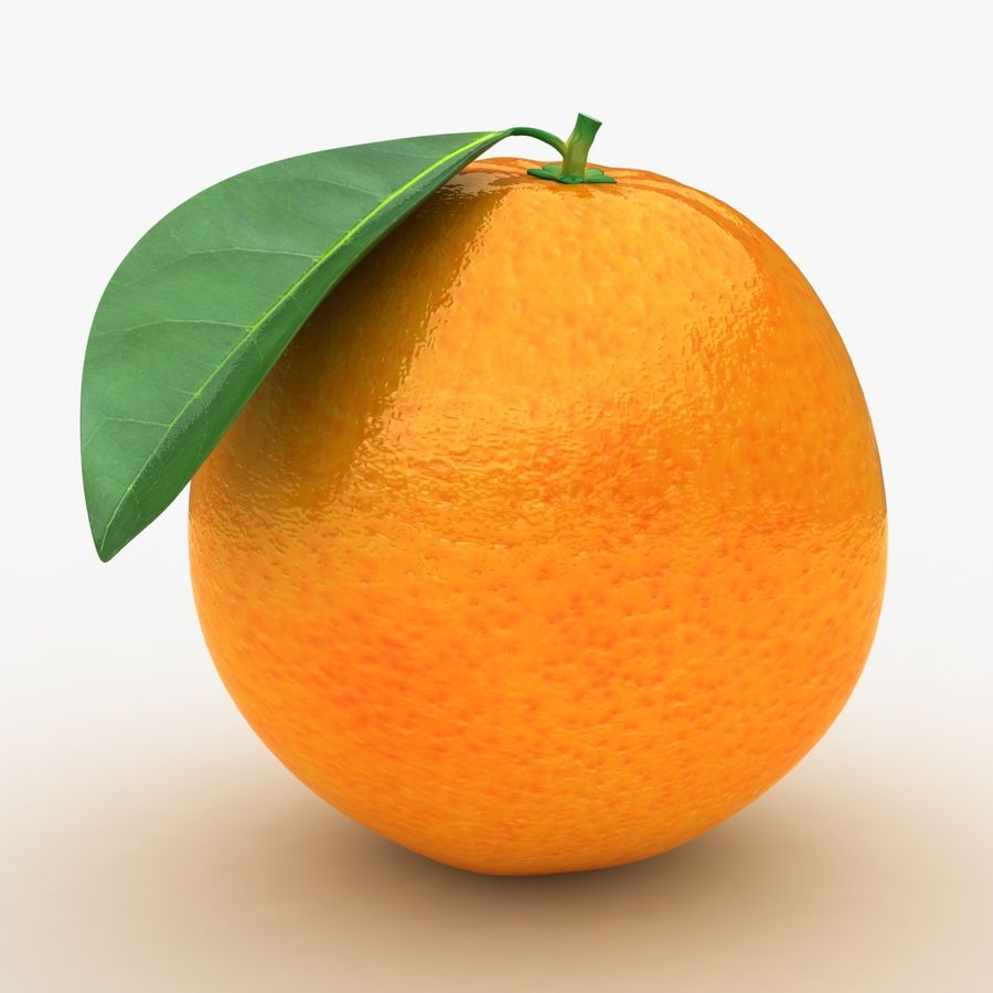 Orange Fruit royalty-free 3d model - Preview no. 2