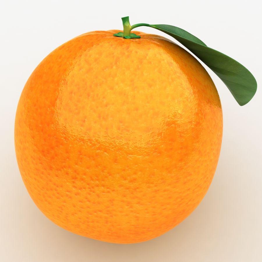 Orange Fruit royalty-free 3d model - Preview no. 7