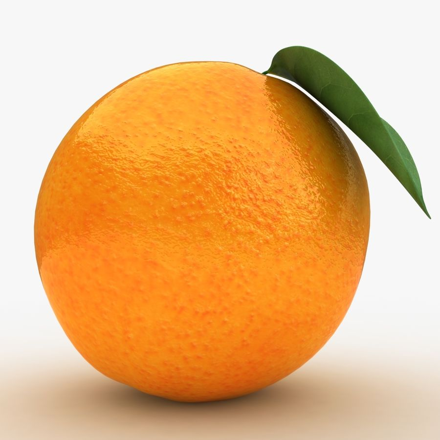 Orange Fruit royalty-free 3d model - Preview no. 5