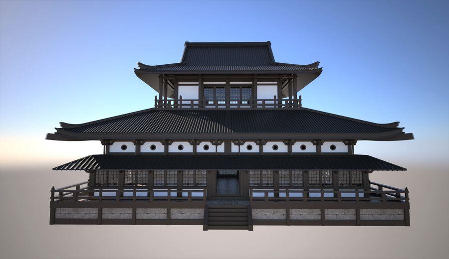 Japońska świątynia tradycyjna royalty-free 3d model - Preview no. 4