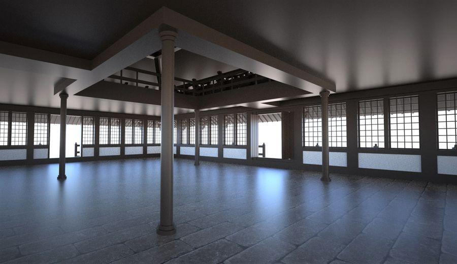 Japońska świątynia tradycyjna royalty-free 3d model - Preview no. 6