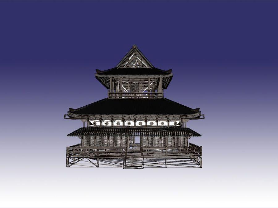 Japońska świątynia tradycyjna royalty-free 3d model - Preview no. 8