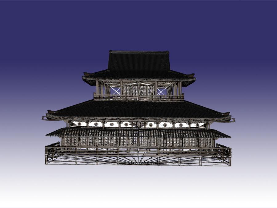 Japońska świątynia tradycyjna royalty-free 3d model - Preview no. 7