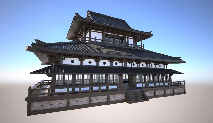 Japońska świątynia tradycyjna royalty-free 3d model - Preview no. 1