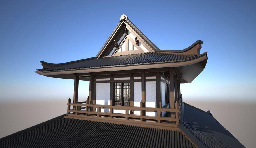 Japońska świątynia tradycyjna royalty-free 3d model - Preview no. 3