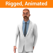 Man rigged animated model 3d model