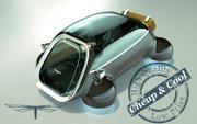 \\ T // Hover Car 08 3d model