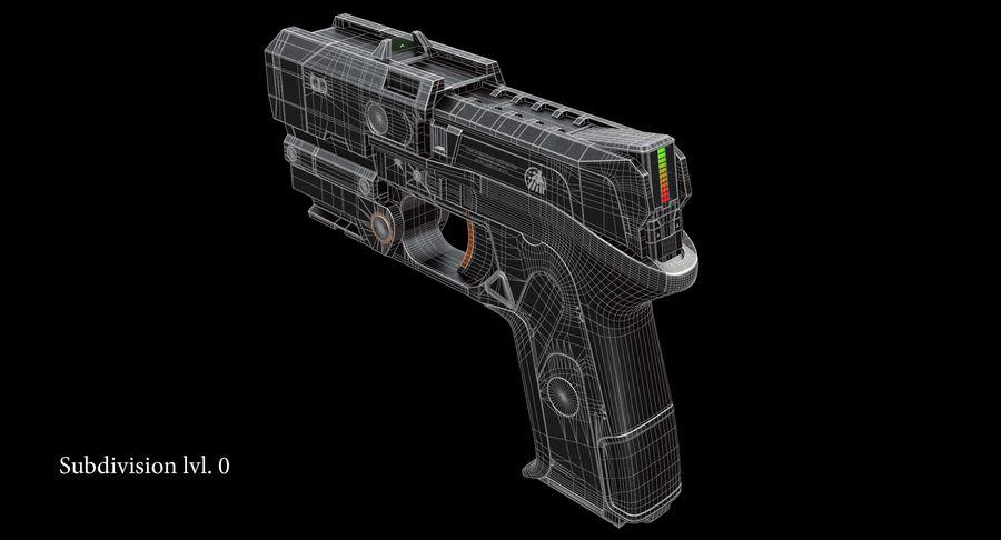 Sci-fi Gun royalty-free 3d model - Preview no. 11