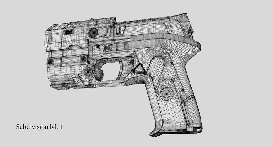 Sci-fi Gun royalty-free 3d model - Preview no. 20