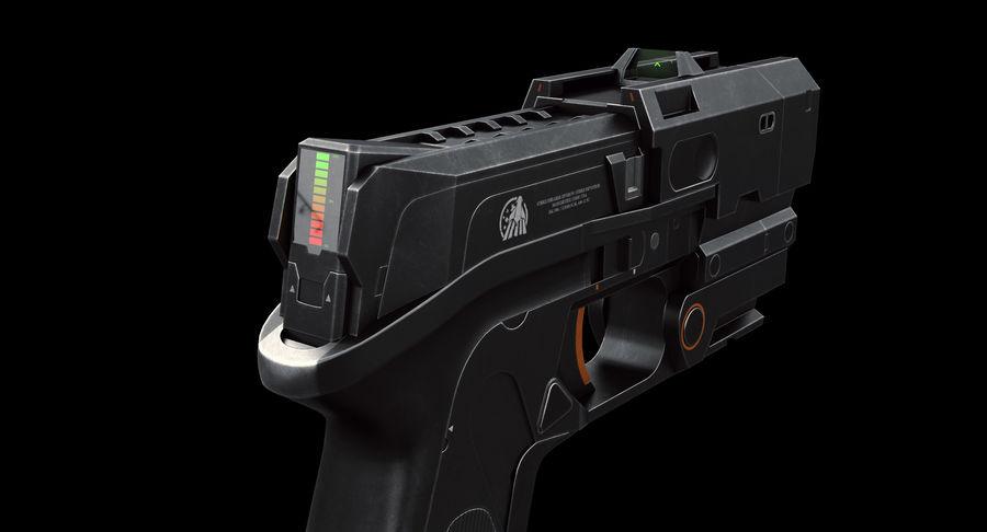 Sci-fi Gun royalty-free 3d model - Preview no. 5