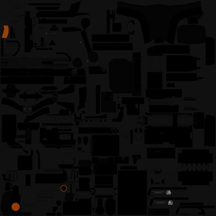 Sci-fi Gun royalty-free 3d model - Preview no. 30